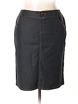 IMAN Denim Skirt Size 1X (Plus)