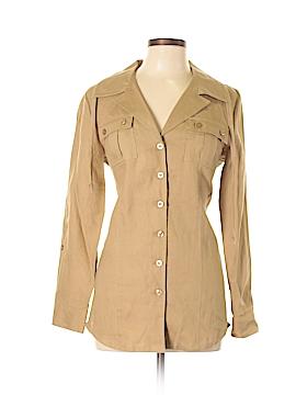 Peck & Peck Long Sleeve Button-Down Shirt Size M