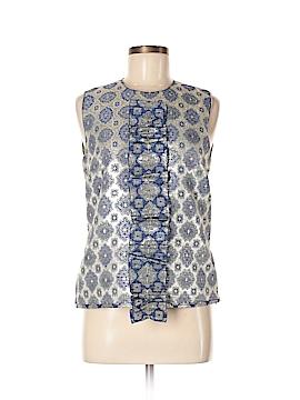 Prada Sleeveless Silk Top Size 46 (IT)