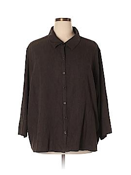 Sag Harbor Long Sleeve Blouse Size 3X (Plus)