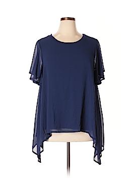 Design History Short Sleeve Blouse Size 1X (Plus)