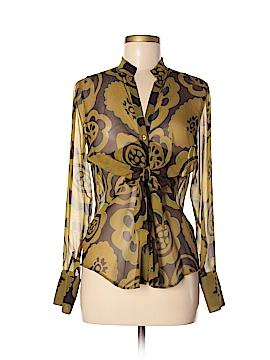 Etcetera Long Sleeve Silk Top Size 6