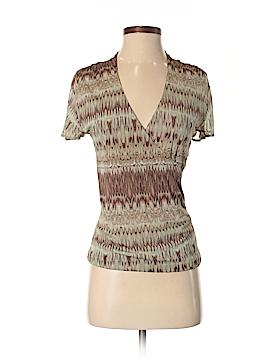 Anne Klein Short Sleeve Silk Top Size XS