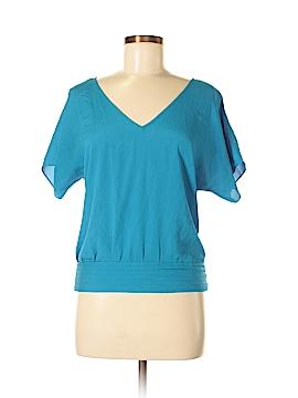 Marine Blu Short Sleeve Blouse Size M