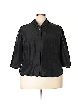 Valerie by Valerie Stevens 3/4 Sleeve Silk Top Size 20W (Plus)