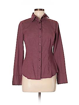 Apostrophe Long Sleeve Button-Down Shirt Size S