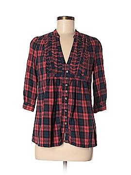 DMBM 3/4 Sleeve Button-Down Shirt Size M