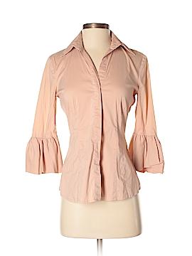 BCBGMAXAZRIA 3/4 Sleeve Button-Down Shirt Size XXS