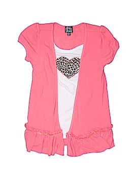 Pink & Violet Short Sleeve Top Size 6X