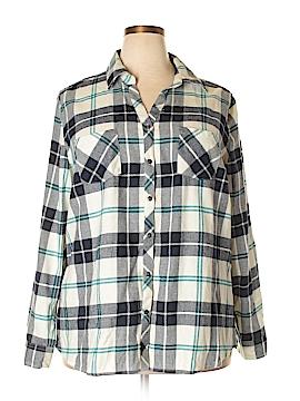 Falls Creek Long Sleeve Button-Down Shirt Size 2X (Plus)