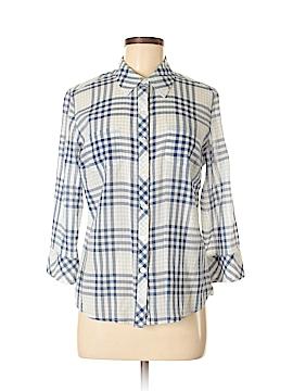 Charter Club 3/4 Sleeve Button-Down Shirt Size 8
