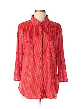 Eden & Olivia 3/4 Sleeve Button-Down Shirt Size XL