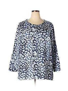 JM Collection Long Sleeve Button-Down Shirt Size 2X (Plus)