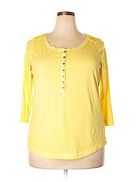 Lauren Jeans Co. 3/4 Sleeve Henley Size 1X (Plus)