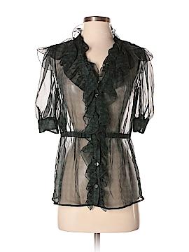 Prada Short Sleeve Silk Top Size 42 (IT)