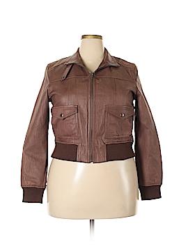 Black Rivet Leather Jacket Size XL