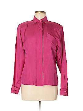 Chaus Long Sleeve Silk Top Size 6