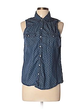 Mudd Sleeveless Button-Down Shirt Size L