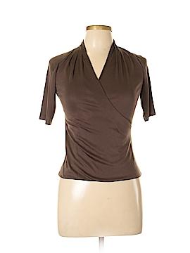 Charles Chang-Lima Short Sleeve Silk Top Size 8
