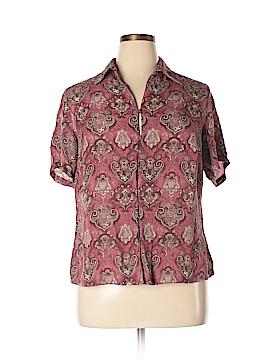 Charter Club Short Sleeve Silk Top Size 14W
