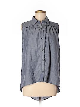 CAbi Sleeveless Button-Down Shirt Size M