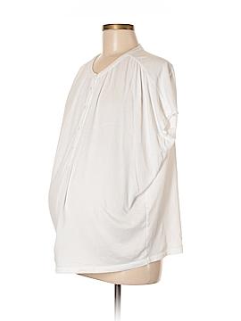 Ann Taylor LOFT Maternity Short Sleeve Henley Size Lg Maternity (P) (Maternity)