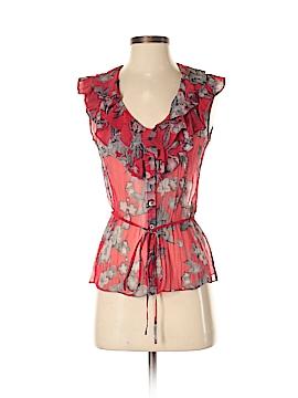 Elie Tahari for Nordstrom Short Sleeve Silk Top Size XS