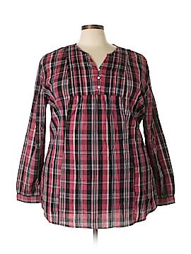 Bit & Bridle 3/4 Sleeve Button-Down Shirt Size 2X (Plus)