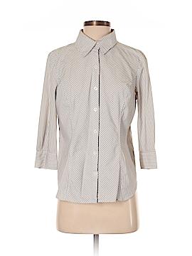Apostrophe 3/4 Sleeve Button-Down Shirt Size L