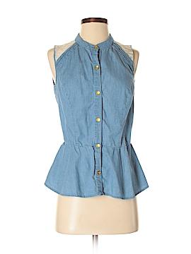 Margo & Sebastian Sleeveless Button-Down Shirt Size M