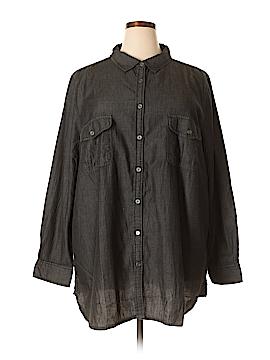 Denim 24/7 Long Sleeve Button-Down Shirt Size 26 (Plus)