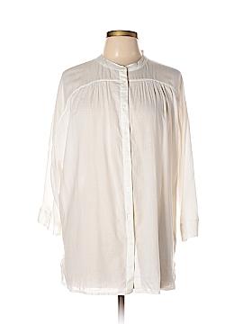 Gap 3/4 Sleeve Button-Down Shirt Size M (Tall)