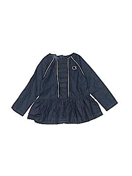 Calvin Klein Long Sleeve Blouse Size 18 mo