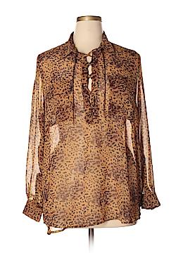 BCBGMAXAZRIA Long Sleeve Blouse Size XL