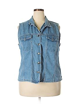 St. John's Bay Denim Vest Size 22W (Plus)