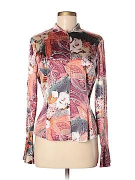 St. John Long Sleeve Silk Top Size 6