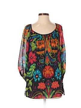 Shoshanna 3/4 Sleeve Silk Top Size 4