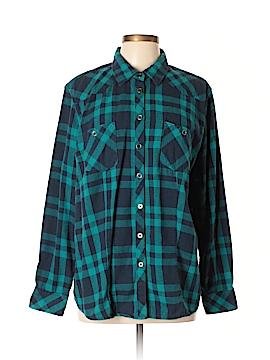 Bit & Bridle Long Sleeve Button-Down Shirt Size XL