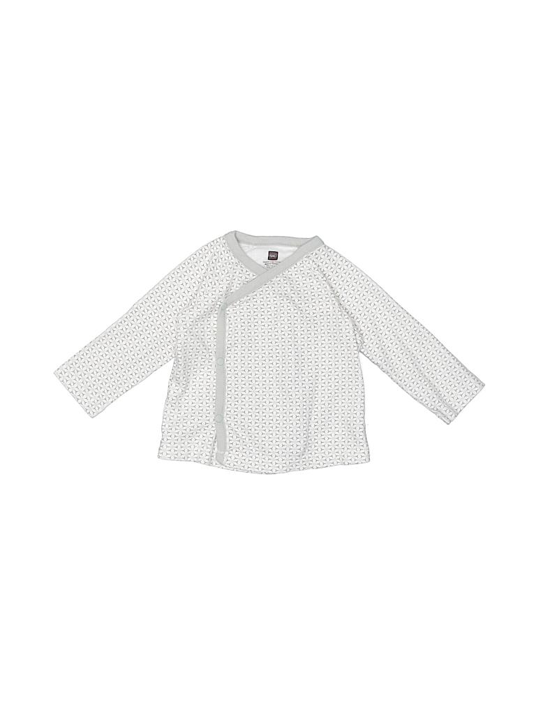 Tea Girls Long Sleeve Button-Down Shirt Size 3-6 mo