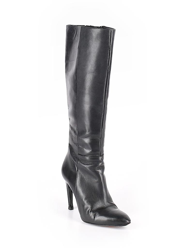 0031e68f95038d Via Spiga Solid Black Boots Size 6 - 87% off
