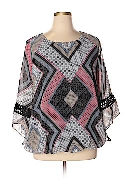 AB Studio Long Sleeve Blouse Size 0X (Plus)