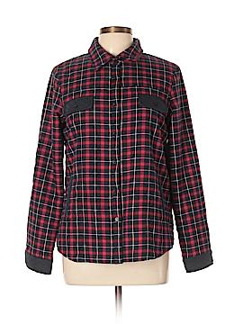 En Creme Long Sleeve Button-Down Shirt Size L