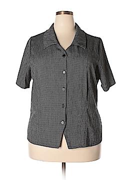 Kathie Lee Short Sleeve Button-Down Shirt Size 18 - 20 (Plus)