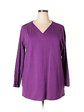 D&Co. Long Sleeve Top Size 1X (Plus)