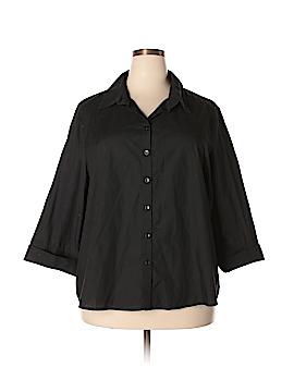 ASOS 3/4 Sleeve Button-Down Shirt Size 18 (Plus)