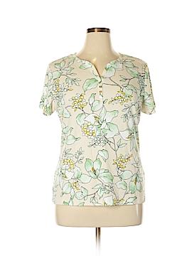 Karen Scott Short Sleeve Henley Size XL