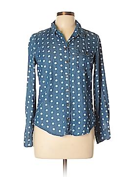 Sans Souci Long Sleeve Button-Down Shirt Size M