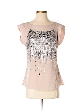 Rebecca Taylor Short Sleeve Silk Top Size 2
