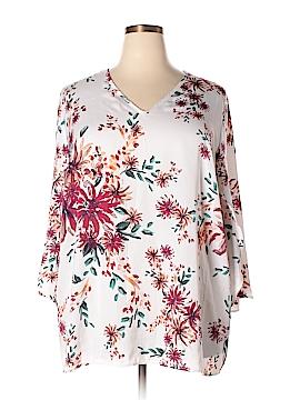Denim 24/7 3/4 Sleeve Blouse Size 22W (Plus)