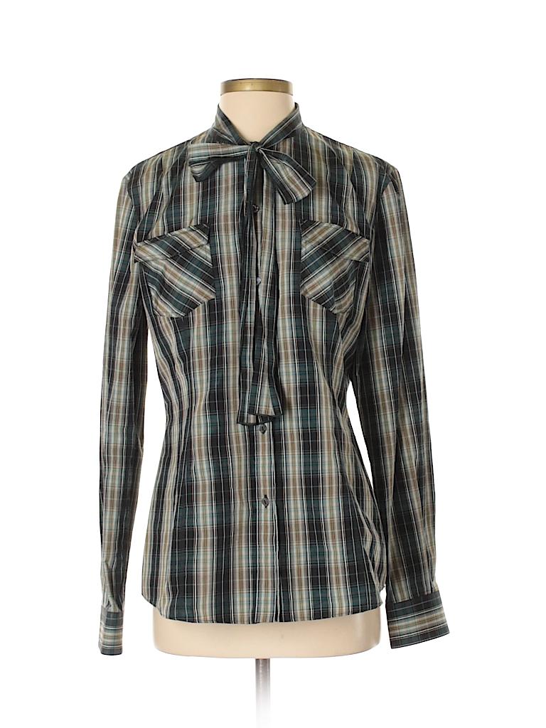 Dolce & Gabbana Women Long Sleeve Button-Down Shirt Size 44 (IT)